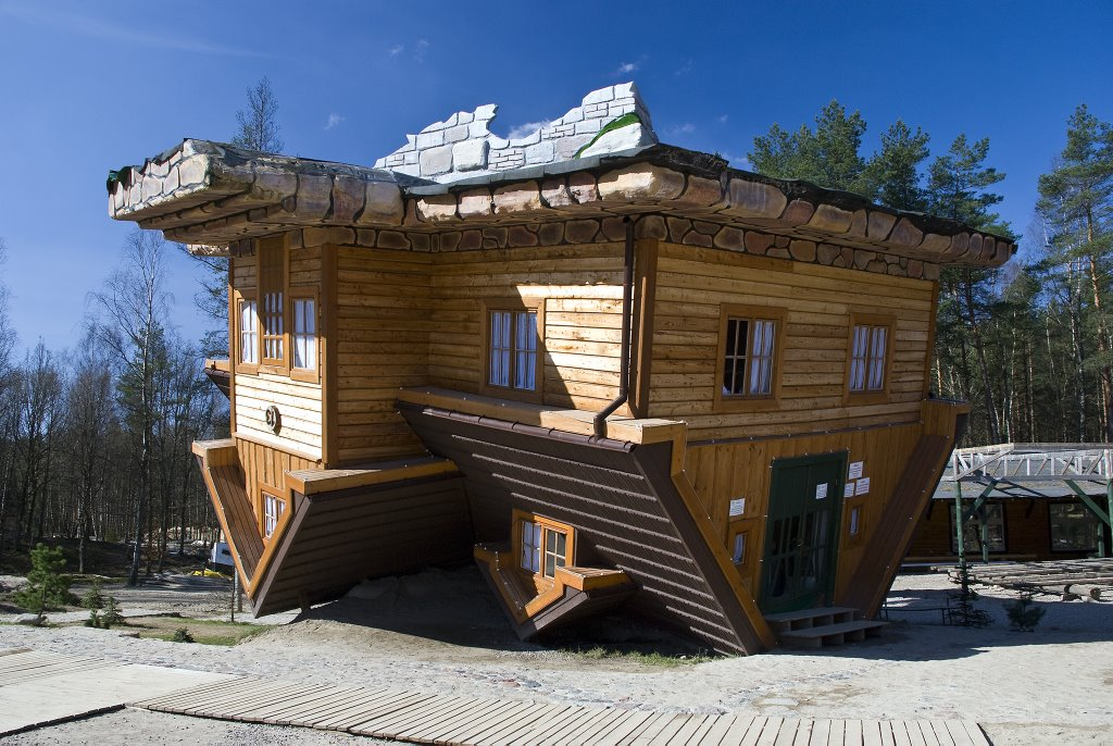 house built upside down in Poland