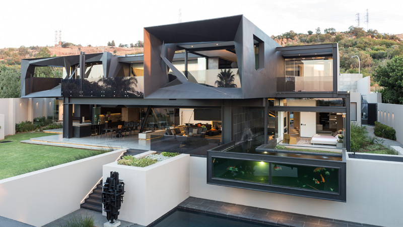 contemporary home built in South Africa