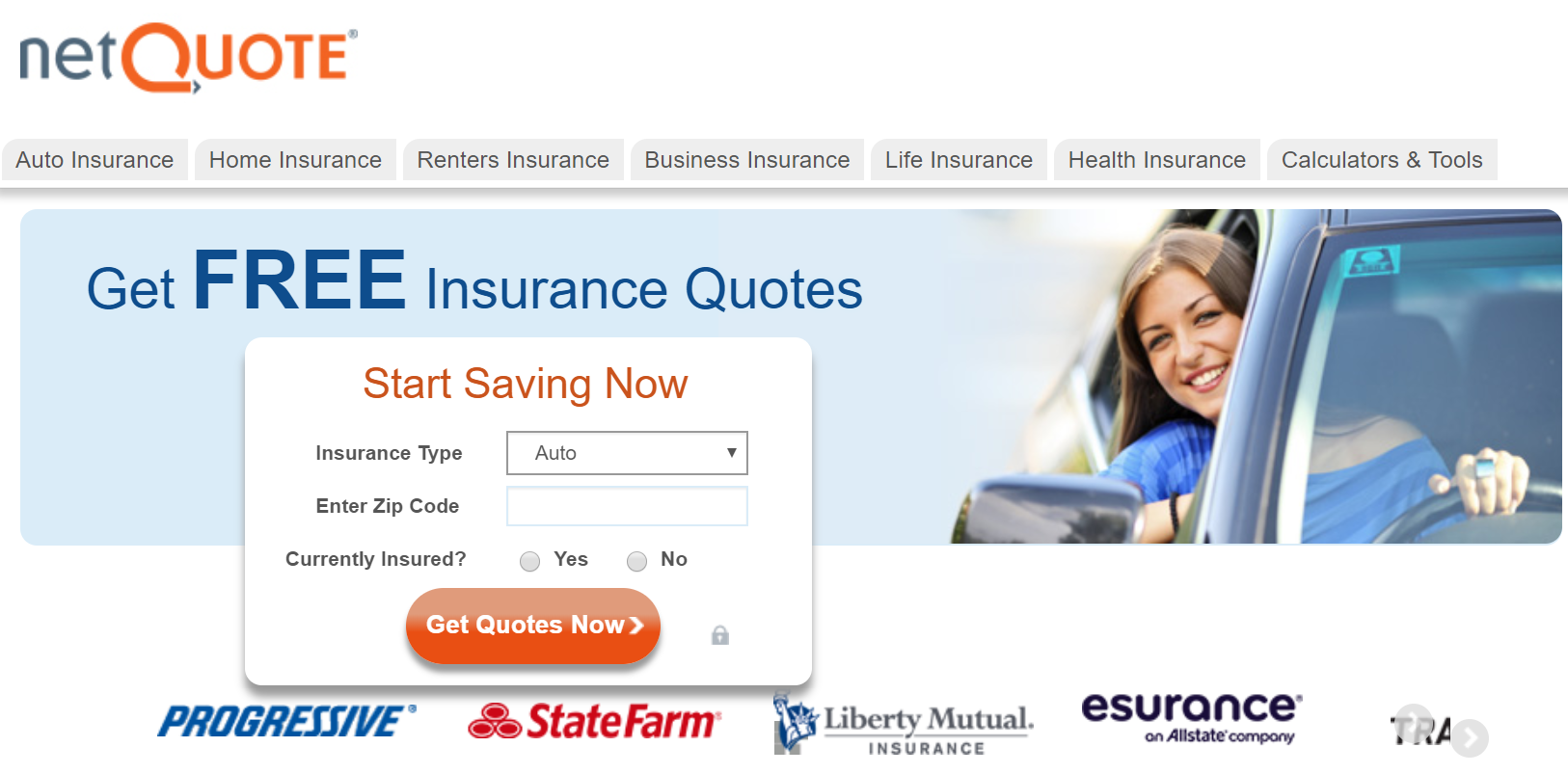 net quote insurance landing page
