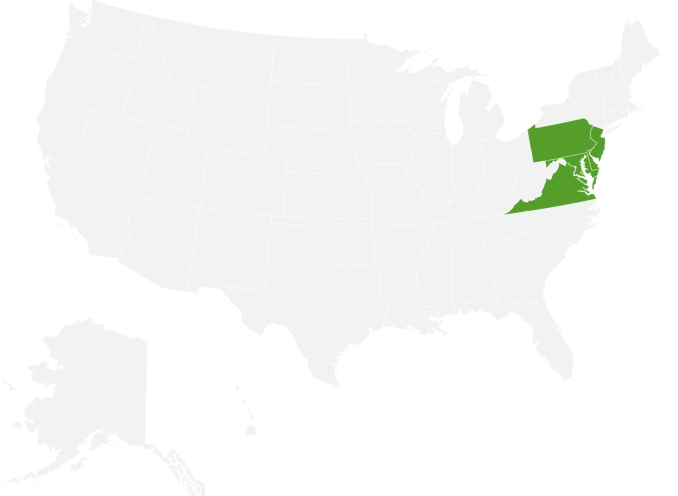 The Philadelphia Contributionship state coverage map