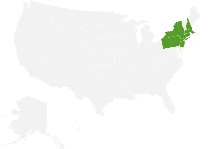 Plymouth Rock Assurance state coverage map
