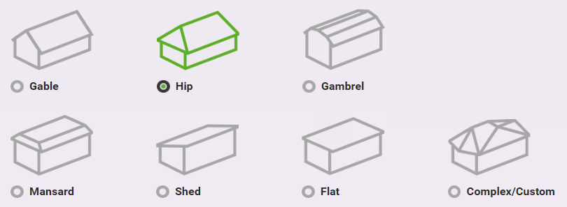 various shapes of roof for houses