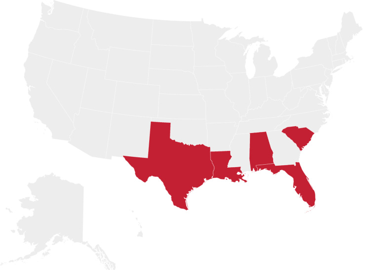 FedNat Insurance Company state coverage map