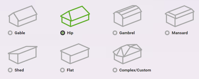 different roof shapes