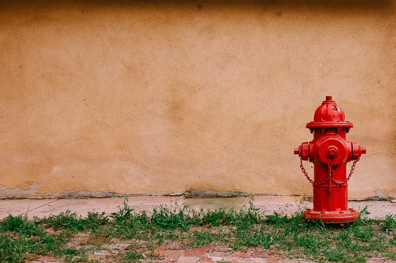fire hydrant next to building