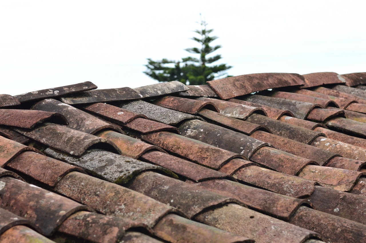 old clay tile roof