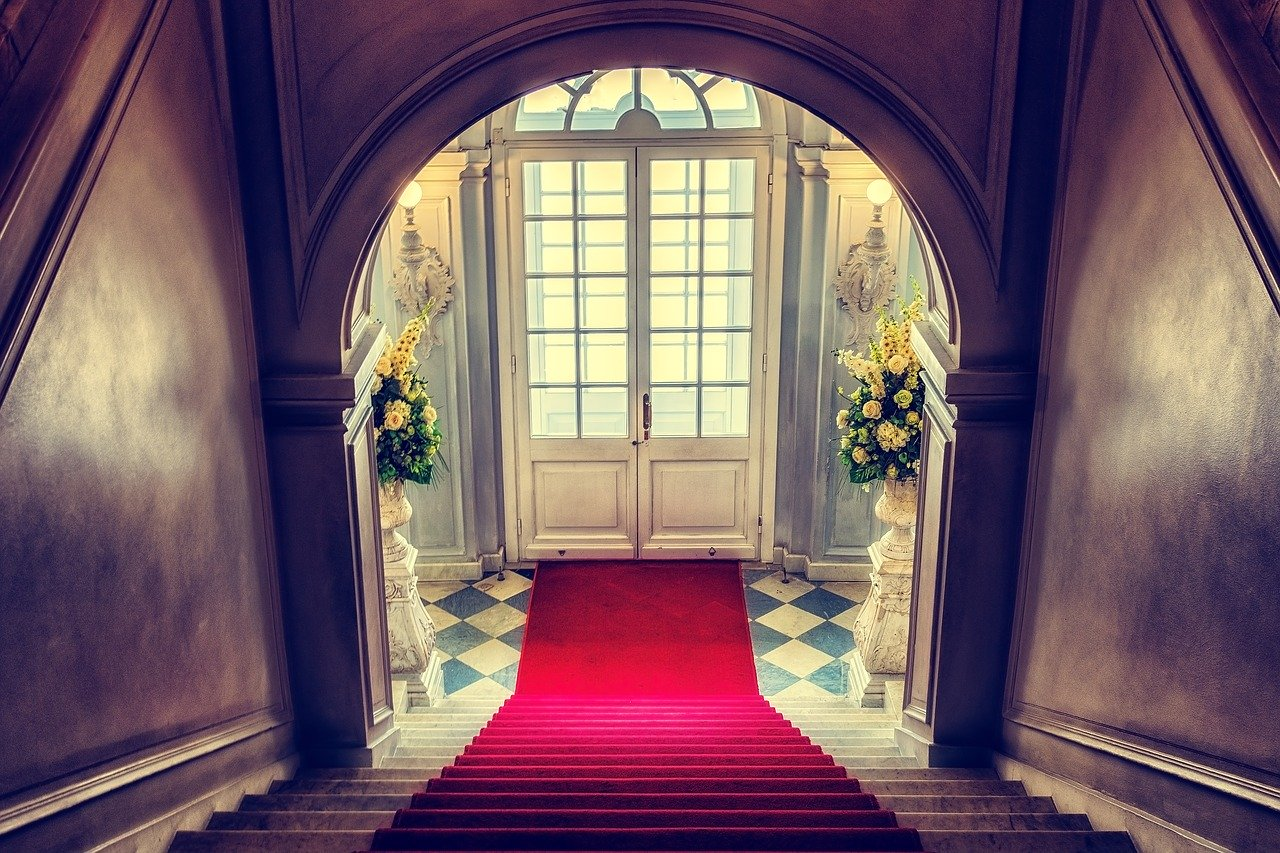 red carpet entryway