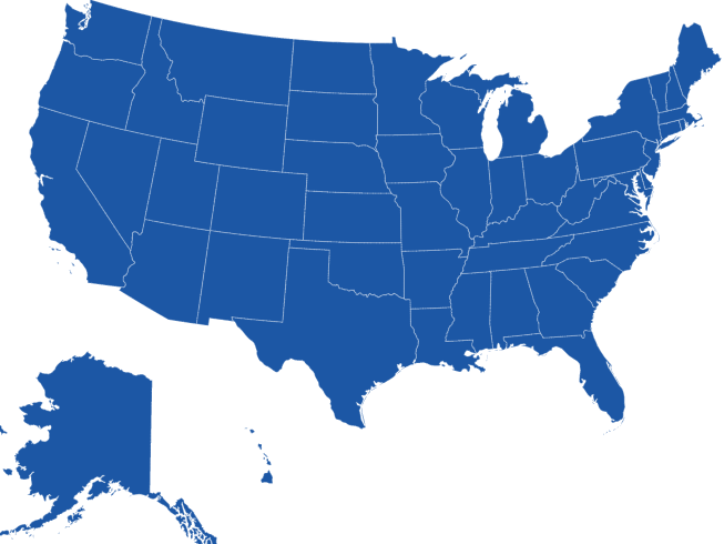 Nationwide State Coverage Map