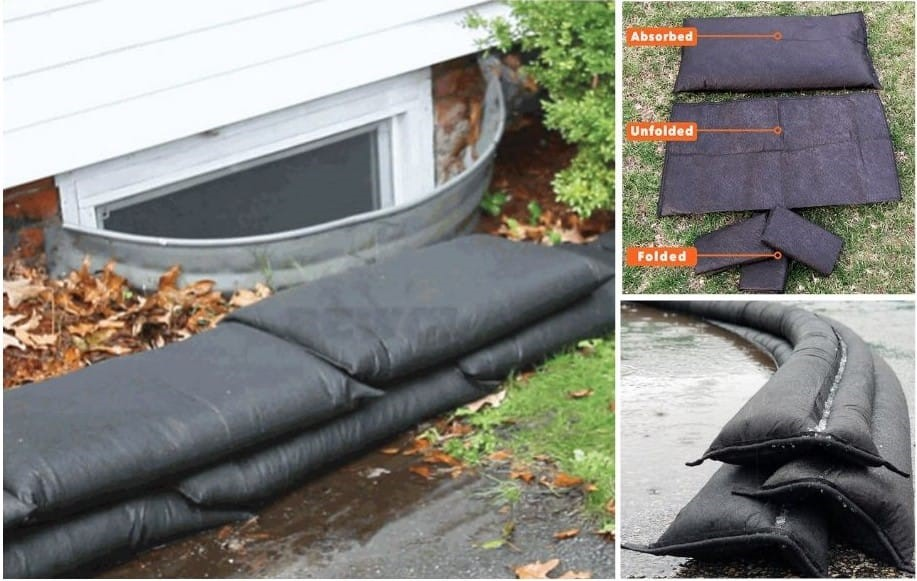 Water Filled Sandless Sandbags, Water Filled Self Inflating Sandless Sandbags, Flood Barriers for Homes